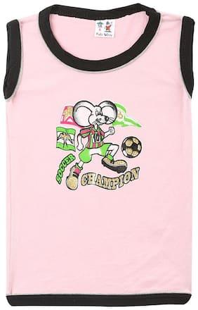 S R Kids Boy Cotton Solid T-shirt - Black
