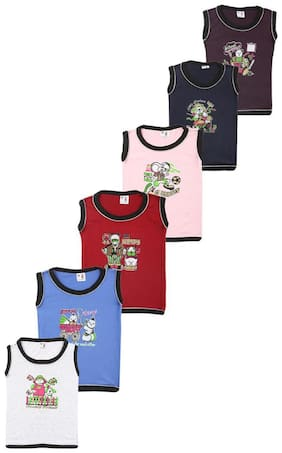 S R Kids Cotton Printed T shirt for Baby Boy - White