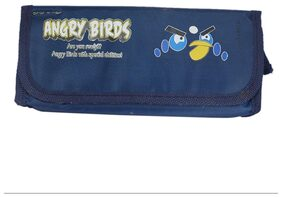 Saamarth Impex Angry Birds Theme Based Blue Color Fabric Pencil Case/Bag SI-4614