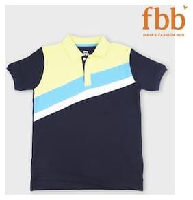 Sach Boy Cotton Striped T-shirt - Blue