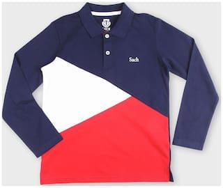 Sach Boy Cotton Solid T-shirt - Blue