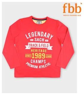 Sach Boy Cotton Printed T-shirt - Red