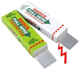 Safety Trick Joke Toy Electric Shock Shocking Chewing Gum Pull Head ( Set of 2)