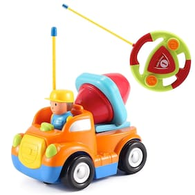 Webby Cartoon Racing Remote Control Cement Mixer Truck for Toddlers