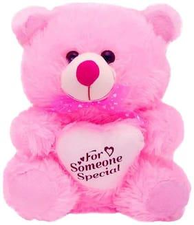SAMAYRA TOYS Pink Teddy Bear - 40 cm