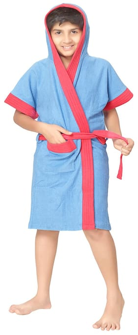 Sand Dune Torquoise Bathrobe (Size-6-7 years)