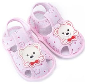 Enso Pink Sandals For Infants