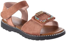 Enso Brown Girls Sandals