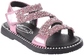 Enso Pink Sandals For Girls