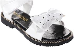 Enso White Girls Sandals