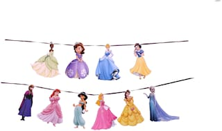 Sandbox Party Princess Banner / Hanging for Girls (10 Characters)