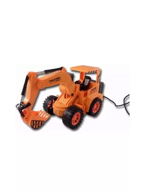 Sani International Wired Remote Control Battery Operated Jcb Crane Truck Toy