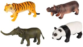 Sanyal Amazing Realistic Look Wild Animal Kingdom figures Play Set Toy for Kids  (Multi-Color)