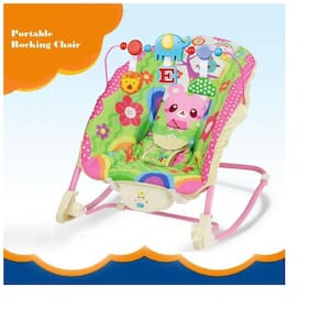 Sanyal Comfort Deluxe Musical Portable Sleepy Rocking Chair with Vibrate Feature for Toddler  (Multicolour)