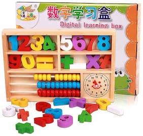 Sanyal Digital Learning Box, Multi Function Digital Computing, Wooden Educational Toys, Abacus Alarm Clock.