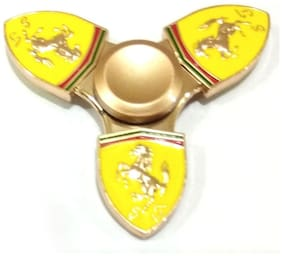 Sanyal Ferrari Style Sports Car Horse Metal Fidget Spinner Golden Colure