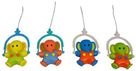 Sanyal Funny Baby Elephant Hanging Toys For Kids (Multicolored) - 1 pcs Set