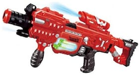 Sanyal Large Electric Soft Bullet Blaze Storm Gun Toy with 20 Glow Soft Darts and Light Effects  (Multicolour)