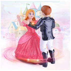 Sanyal New Awesome Dancing Couple Angel Doll and Prince Tango Dance with Light and Music - Multicolore