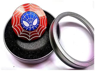 Sanyal Spider-Man  Shield Super Heroes Avengers High Quality Metal Hand Spinner Fidget, Red Pack of 1