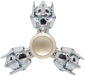 Sanyal Transformer Autobots Face Turbo Speed Metal Fidget Hand Spinner with Stainless Steel Bearing - Silver