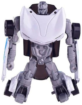 Sanyal Transformation 1.43 Die Cast Metal Model Robot Mode Changeble Cars Toys of Dofferent Styles (White)