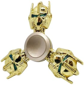 Sanyal Transformer Autobots Face Turbo Speed Metal Fidget Hand Spinner with Stainless Steel Bearing - Golden