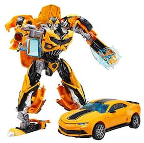 Sanyal Transformation Robot Car Model Deformation Action Figures Classic Toys For Kids (Yellow)