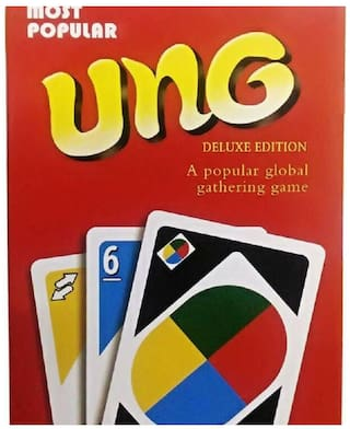 Sanyal UNO Fast Fun Party Playing Cards Game, Pack 108 Cards with Metal Box (Red)