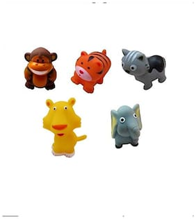 Sanyal We re Friends Animal Friends Chu Chu Bath Toys (Set of 5)