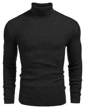 SATPAL Boy Wool Striped Sweater - Black
