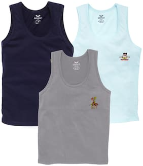 Savage Vest For Boys - Multi , Set of 3