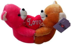 Say Basket Couple Love Teddy Soft Toy 23cm