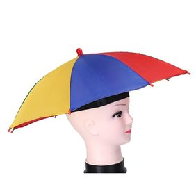 Sayee Rainbow Colour Foldable kids Umbrella Hat Fashion  (Multicolor)