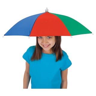 e3c4667c81b5f Sayee Rainbow Colour Foldable kids Umbrella Hat Fashion (Multicolor)