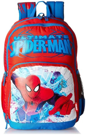SB Marvel 27 Ltrs Red School Backpack (SBMACSN3RED)