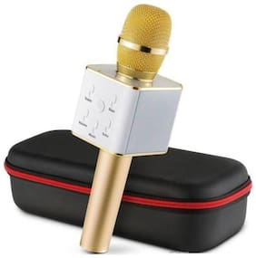 SBA ENTICE MIC Q7 Portable Wireless Mic with Bluetooth, Speaker & Karaoke Microphone