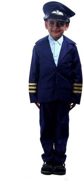Sbd Blue Pilot Community Helper Fancy Dress Costume (2 To 4 Years)