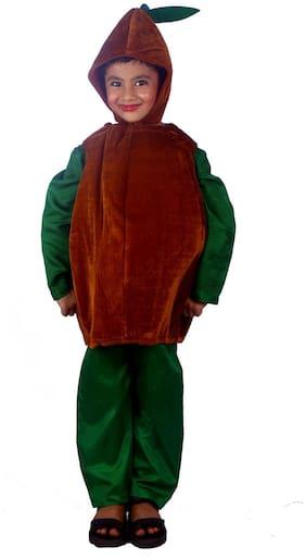 Sbd Brown Chiku Fruit Fancy Dress Costume (Size-2 to 4 Years)