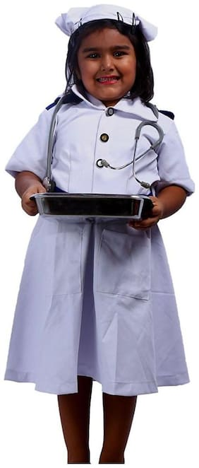 SBD Nurse community helper fancy dress costume for kids