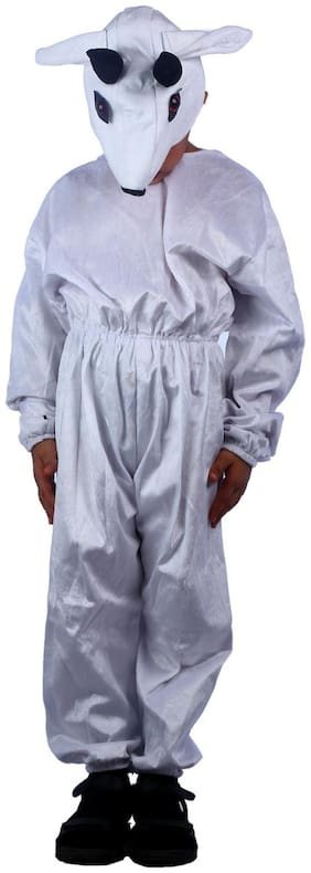 Sbd White Goat Fancy Dress Costume (Size-2 to 4 Years)