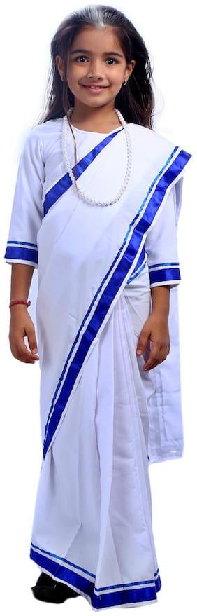 Sbd White Indira Gandhi Fancy Dress Costume (2 To 4 Years)