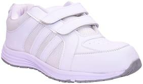 Twin Birds White Unisex Kids School Shoes