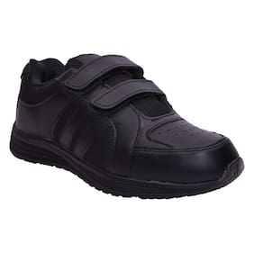 777789c9700281 Twin Birds Black School Shoes for boys