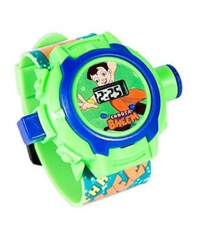 SecondsNhour chota bheem projector watch with 24 grids