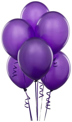 Seema Creations Beautiful Party Balloons Purple Color Big Size (12 Inch) 50 Pieces