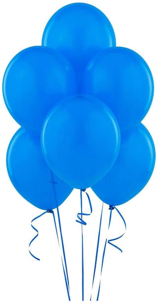 Seema Creations Beautiful Party Balloons Blue Color Big Size 50 Pcs