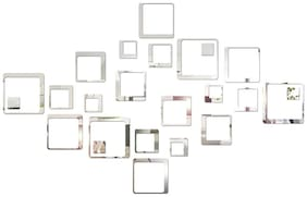 Sehaz Artworks Squares-24Pc-Silver Wall Decals
