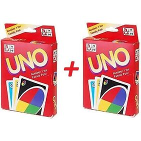 SelectionWorld UNO Playing Flash Cards (2 Sets Of 108 Cards Each)