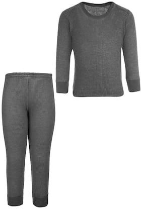 Selfcare Grey Boy Thermal Top And Pyjama Set